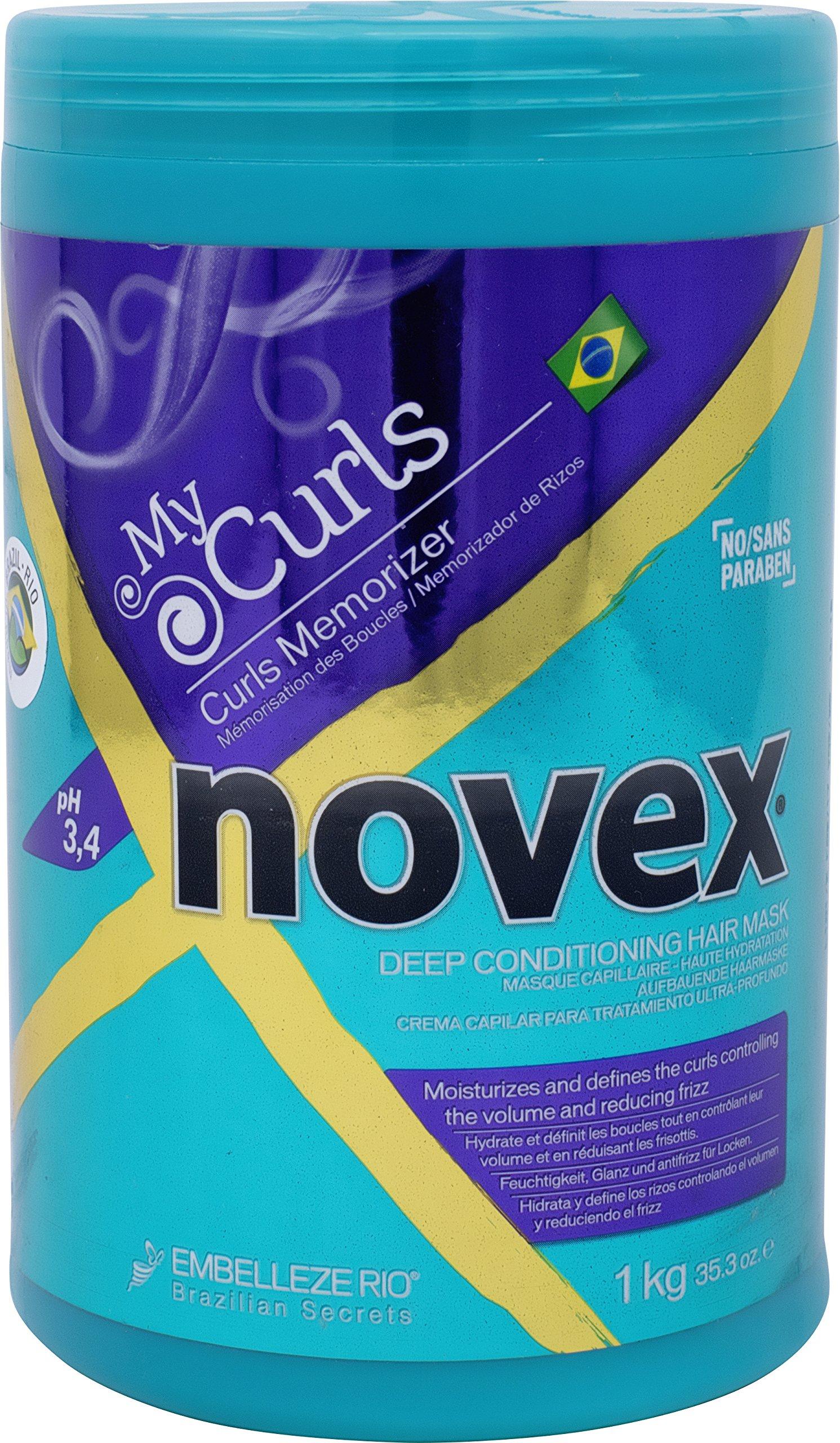 Embelleze Novex My Curls Deep Conditioning Hair Mask Cream (35.2oz) Moisturizing Treatment Defines