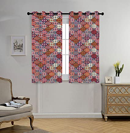 Delicieux IPrint Stylish Window Curtains,Native American Decor,Ethnic Nomadic Rug  Looking Seamless Pattern,
