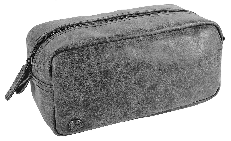 Buffalo David Bitton Chris Top Zip Toiletry Kit, Grey, International Carry-On ACI Brands- CA Luggage BUF779722CA