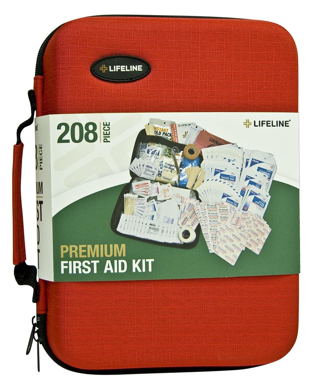 amazon com lifeline 4038 red premium hard shell first aid kit 208