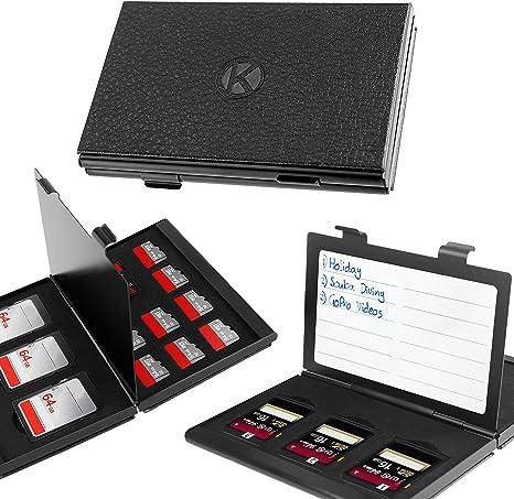 Memory Card case tarjetas de memoria de caja para 4 x tarjetas SD en rojo