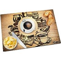 Tabua de Vidro Para Cortes, Café, 30 Cm, Euro