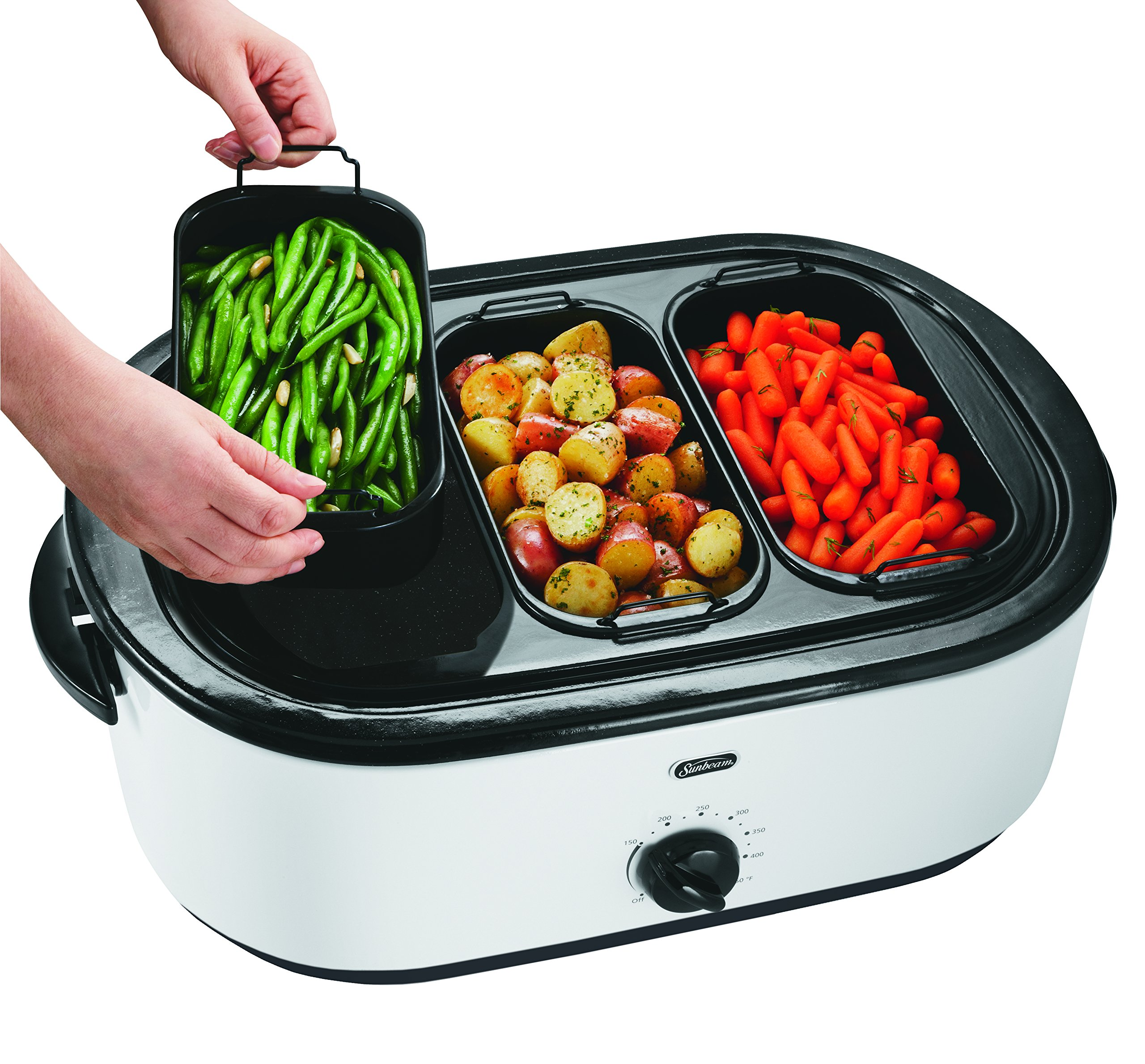 Oster 18 Quart Roaster Oven With Buffet Server White