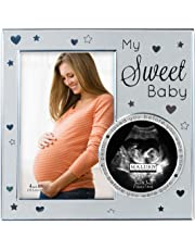 Malden International Designs My Sweet Baby Picture Frame Ultrasound Photo, 4 by 6-Inch, Silver
