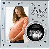 Malden International Designs My Sweet Baby Ultrasound Photo Picture Frame, 4x6, Silver