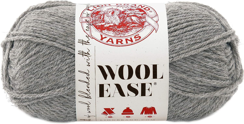 Lion Brand Yarn Lion Brand Wool-Ease Yarn (151) Grey Heather