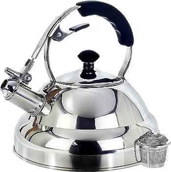Willow & Everett 2.75 Quart Tea Kettle Surgical Whistling Teapot