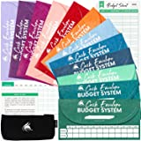 Clever Fox Cash Envelopes for Budget System - Money Envelopes for Budgeting and Saving, 12 Pack of Assorted Colors, Tear…