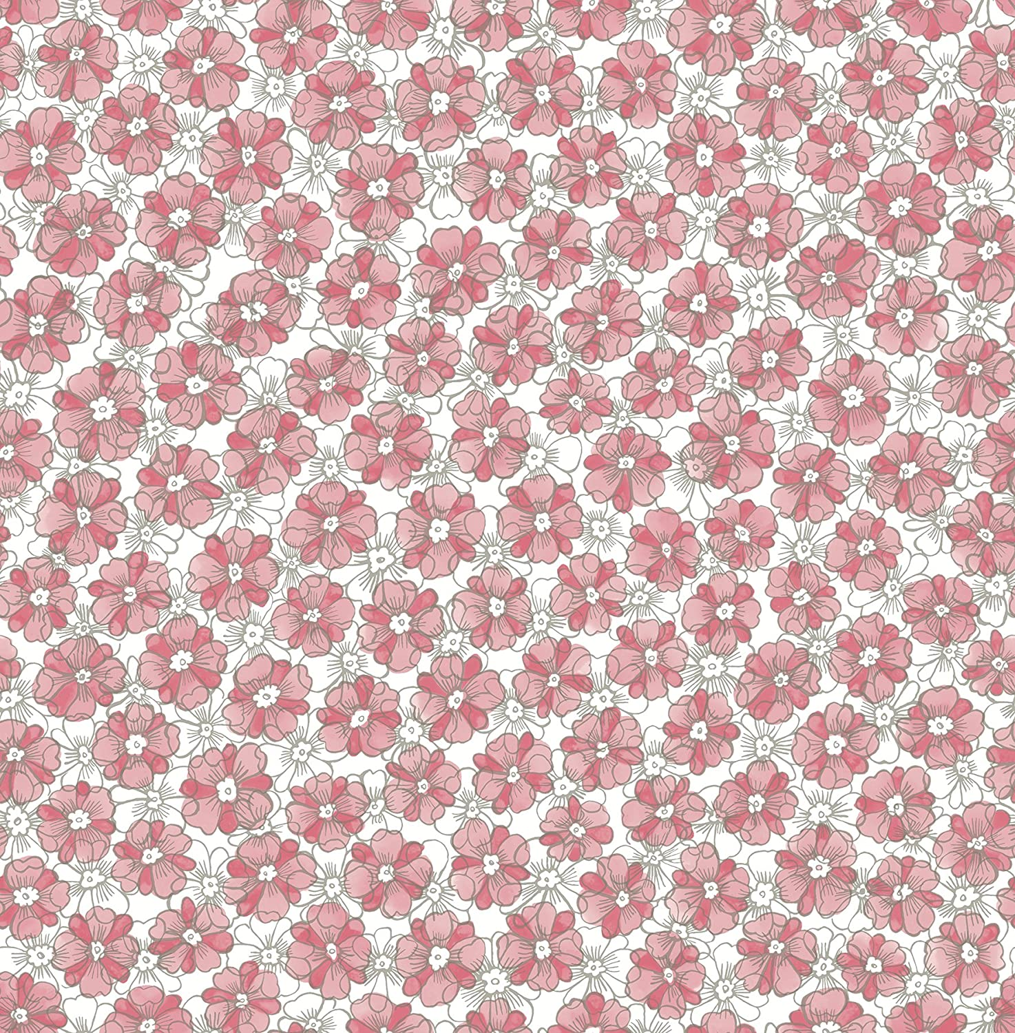 Astu8 A Street Prints 2657 22225 Allison Pink Floral Wallpaper
