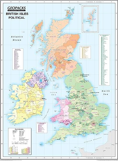 Cartina Muta Isole Britanniche.Geopacks Mappa Politica Fisica Delle Isole Britanniche A Doppio Lato Laminata Da Parete Per Bambini Amazon It Cancelleria E Prodotti Per Ufficio