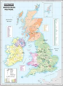 Mapa de pared para niños con diseño de las Islas Británicas, mapa ...