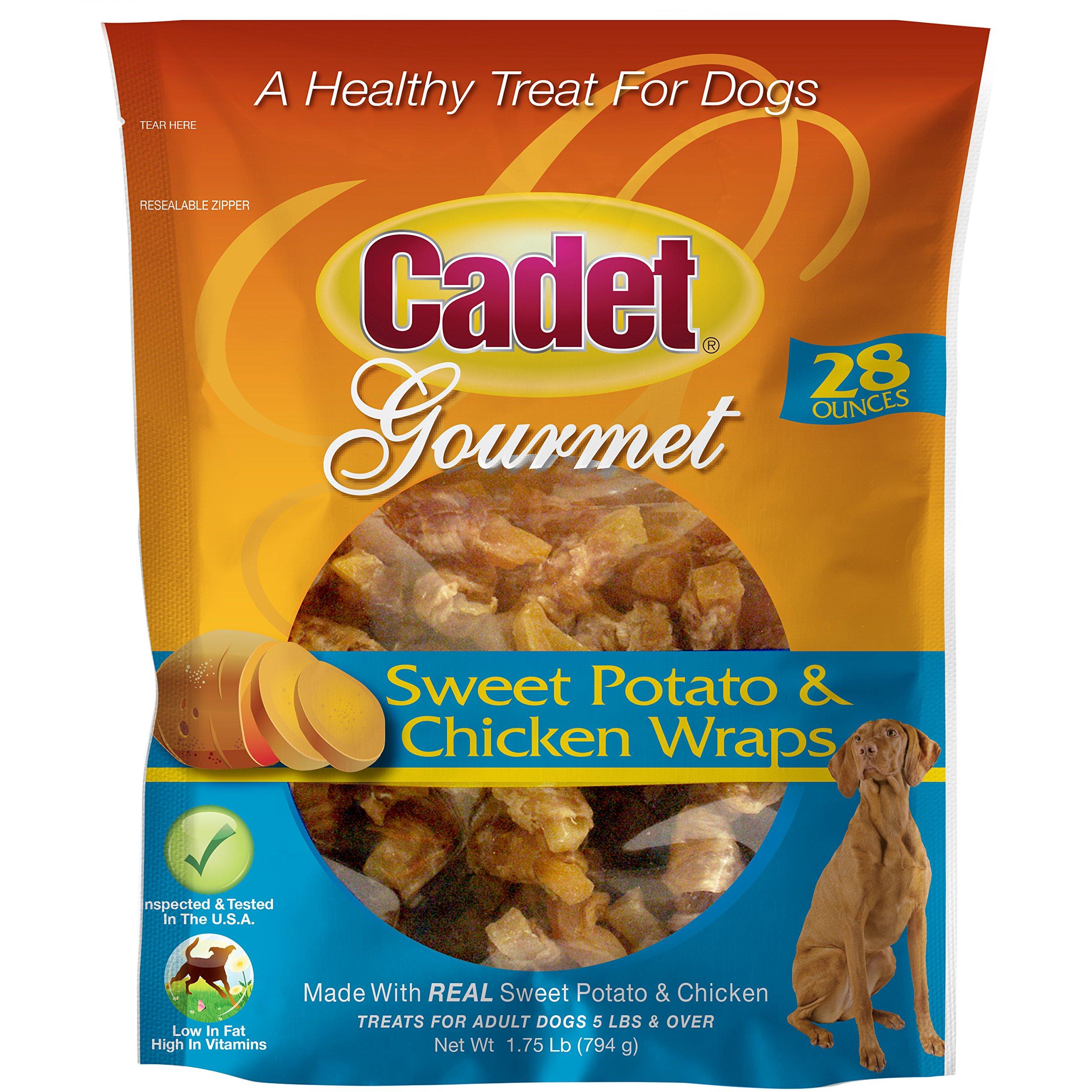 Cadet Chicken Sweet Potato Dog Chew Treats   28 oz.  Dog Chew Treat Wraps   Stick Kabobs by Cadet