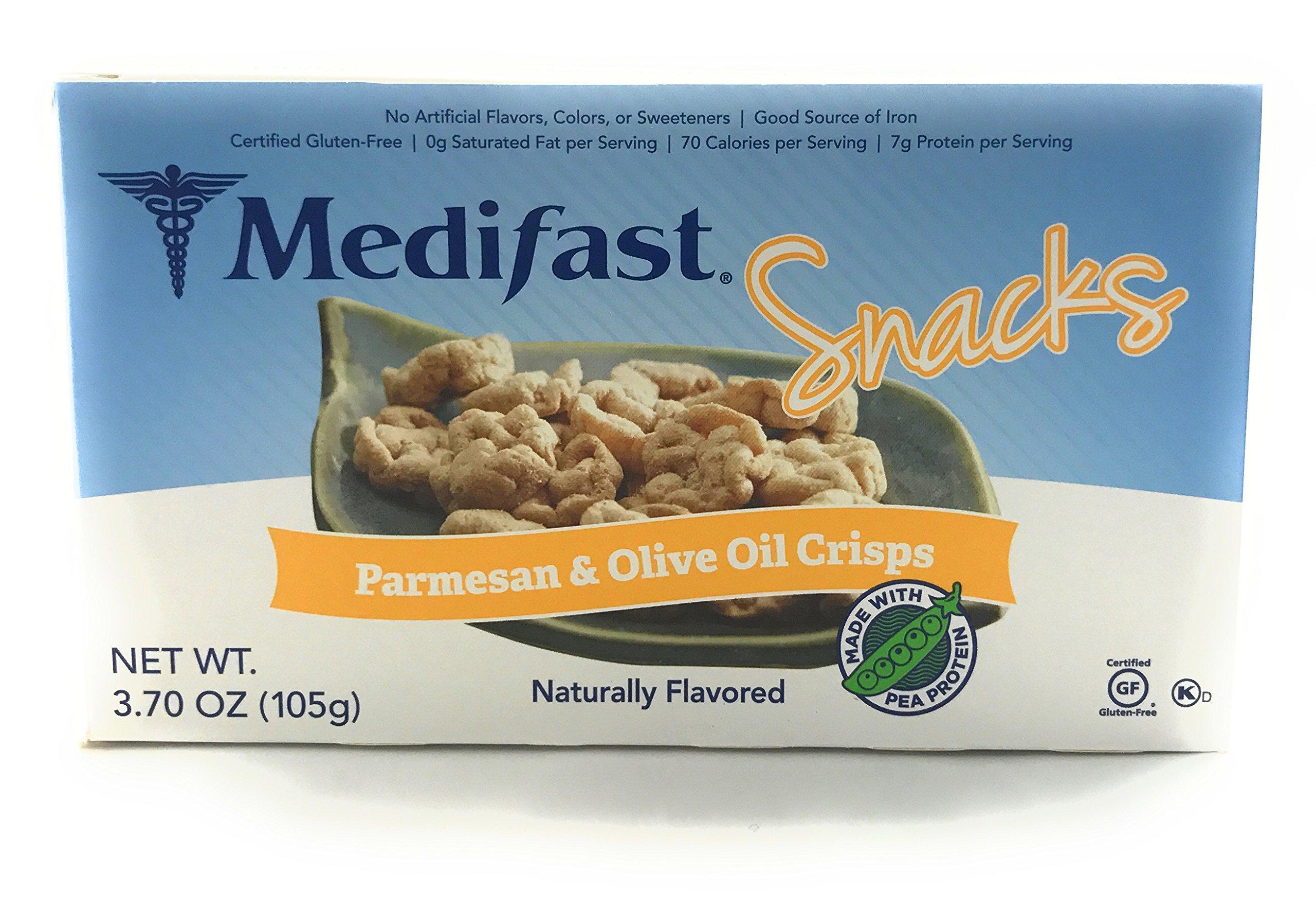 Medifast Snacks Parmesan and Olive Oil Crisps (1 Box/7 Snacks)