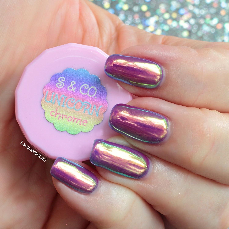 Amazon.com: Sparkle & Co. Unicorn Chrome Iridescent, Insane Shine ...