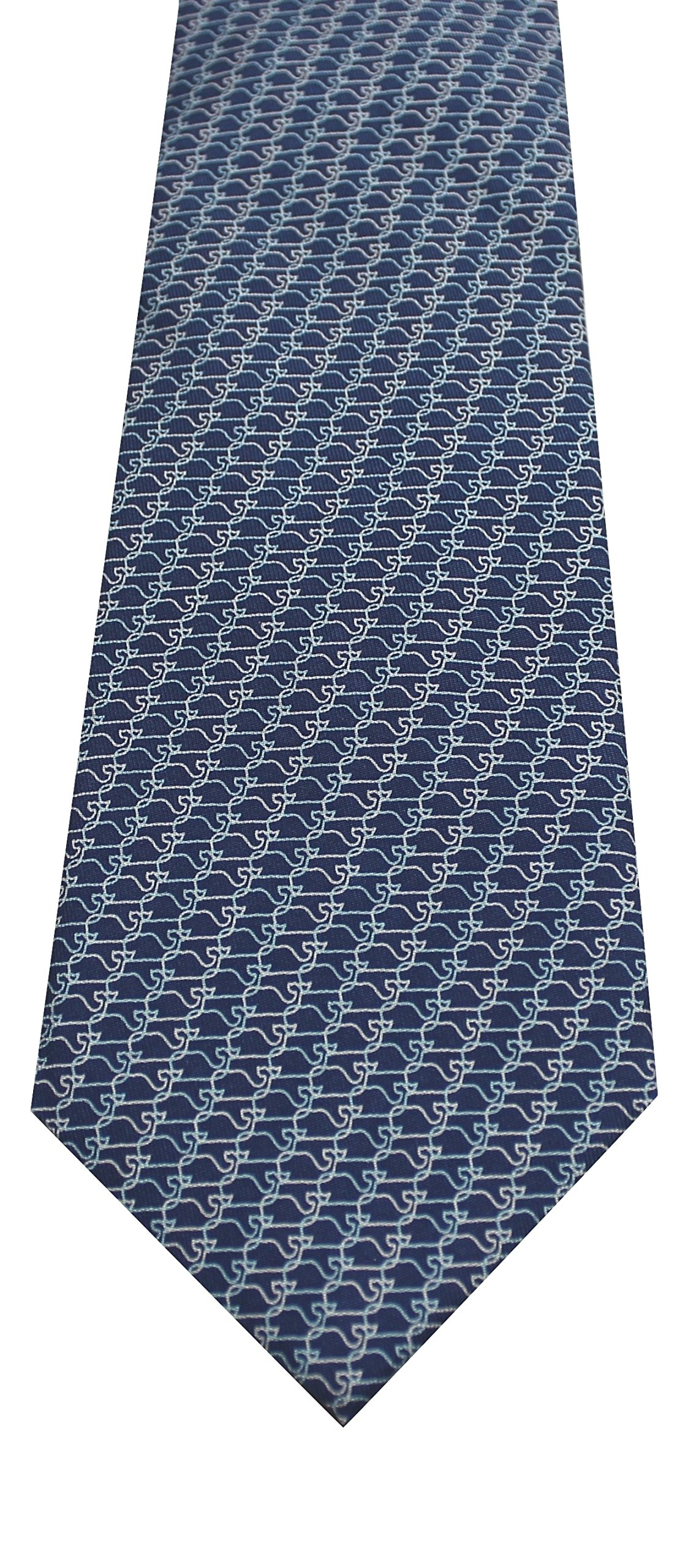 Vineyard Vines Men's Whale Links Silk Tie. (Navy)
