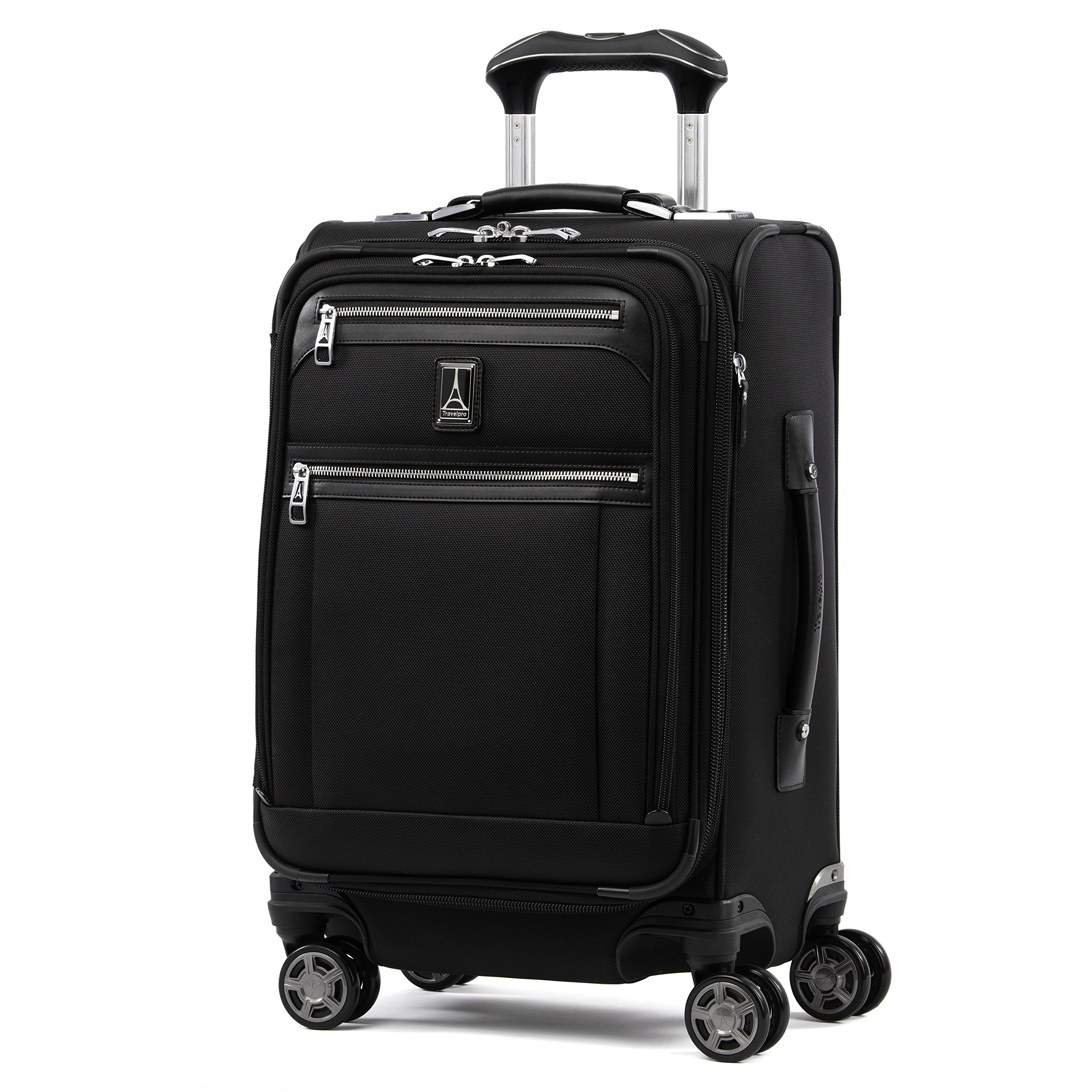 Travelpro Luggage Platinum Elite 20'' Carry-on Expandable Business Spinner w/USB Port, Shadow Black