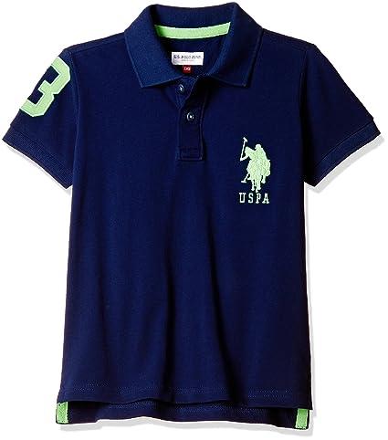 US Polo Association Boys' Polo (UKTS6298_Dark Blue_EL HS) Boys' Polos at amazon