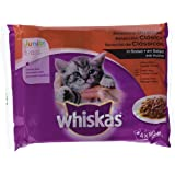 Multipack de 4 bolsitas de 100g de selección de carnes para gatos junior   [Pack