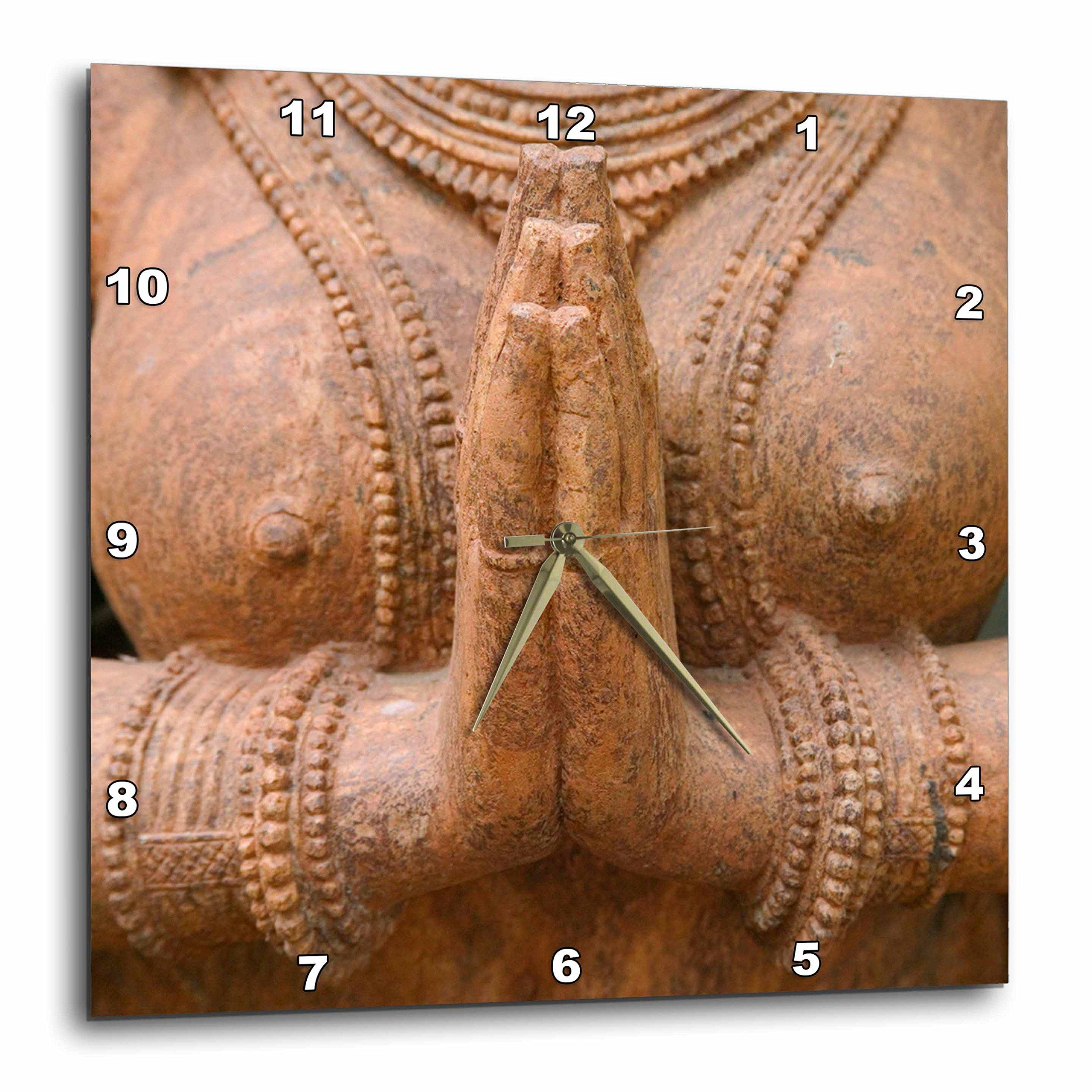 3dRose dpp_72569_1 Hindu Sculpture, Bhubaneswar, Orissa, India-AS10 KSU0066-Keren Su-Wall Clock, 10 by 10-Inch