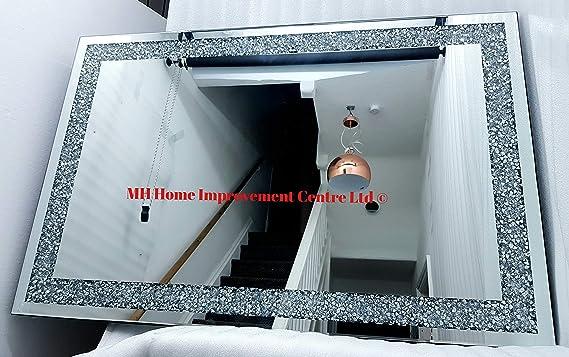 HM MH Diamond Crush - Espejo Grande (80 x 120 cm): Amazon.es: Hogar