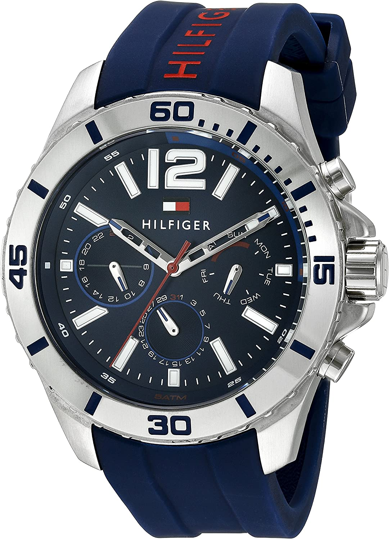 Marco de referencia pronunciación Contribuyente  Amazon.com: Tommy Hilfiger Men's 1791142 Cool Sport Analog Display Quartz  Blue Watch: Tommy Hilfiger: Watches