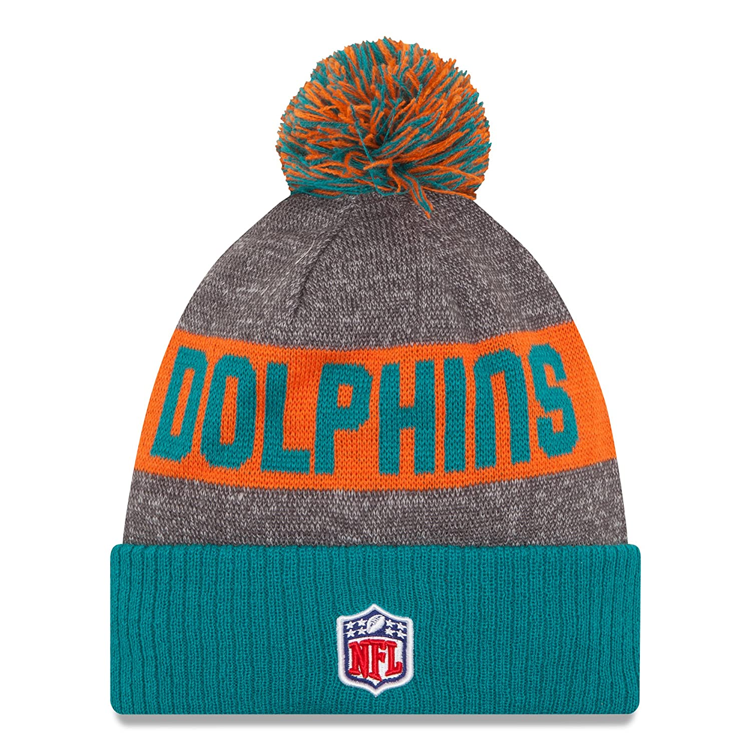 47960abc1 New Era Men s Miami Dolphins 2016 Classic Sport Knit Hat Heather Grey Size  One Size at Amazon Men s Clothing store