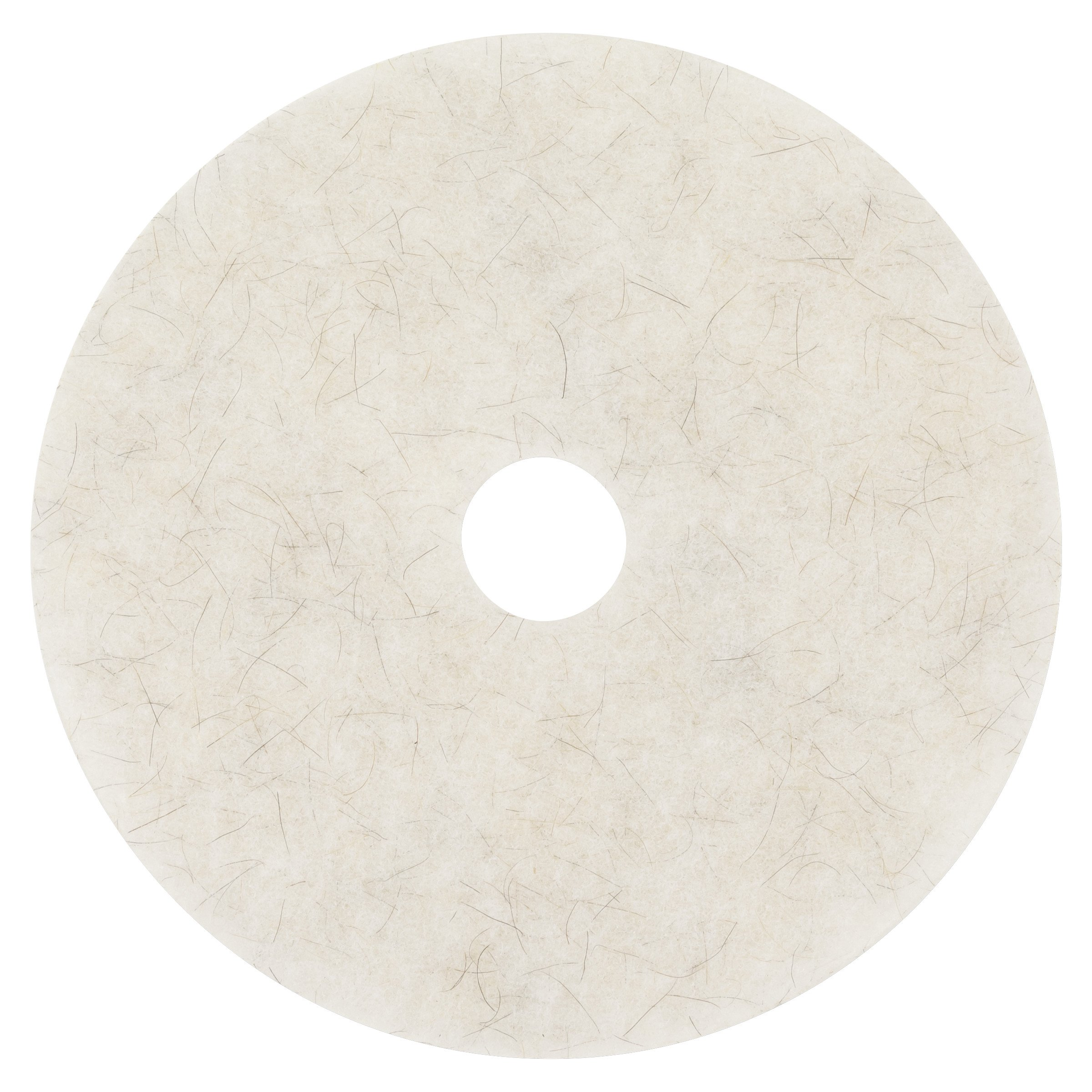 3M Natural Blend White Pad 3300, 20'' (Case of 5) by 3M
