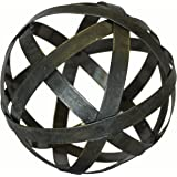 Metal Ball Sphere Decorative,(Coffee Table, Accent, Bowl) | by Urban Legacy (6 inch)