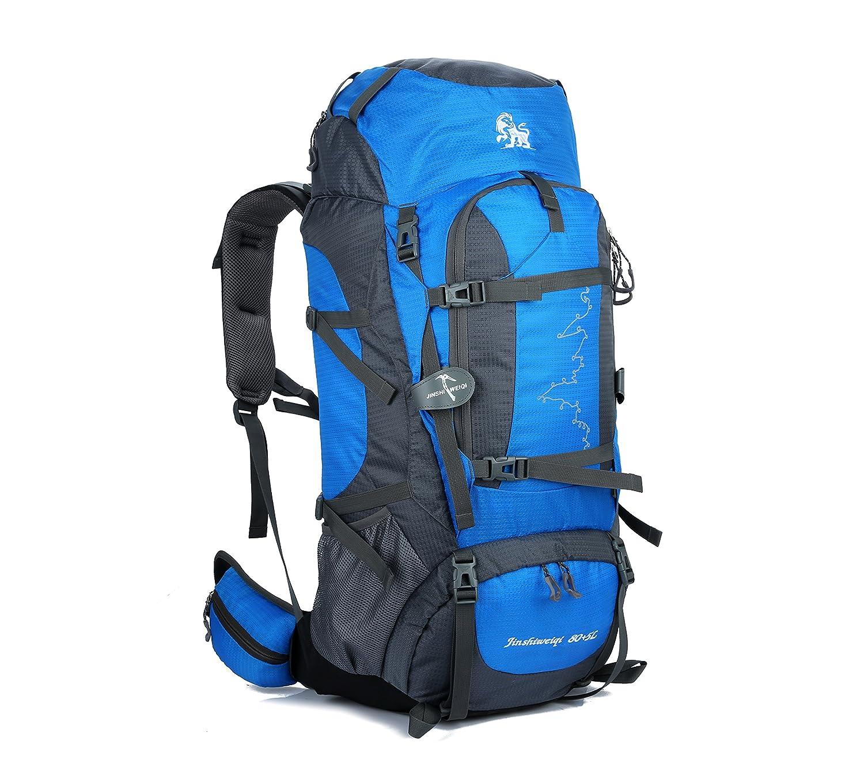 JWBB professionelle Bergsteigen Taschen, große Kapazität wasserdichte outdoor Taschen für Männer reisen Rucksack CR Halterung atmungsaktiv Rucksack 85 L