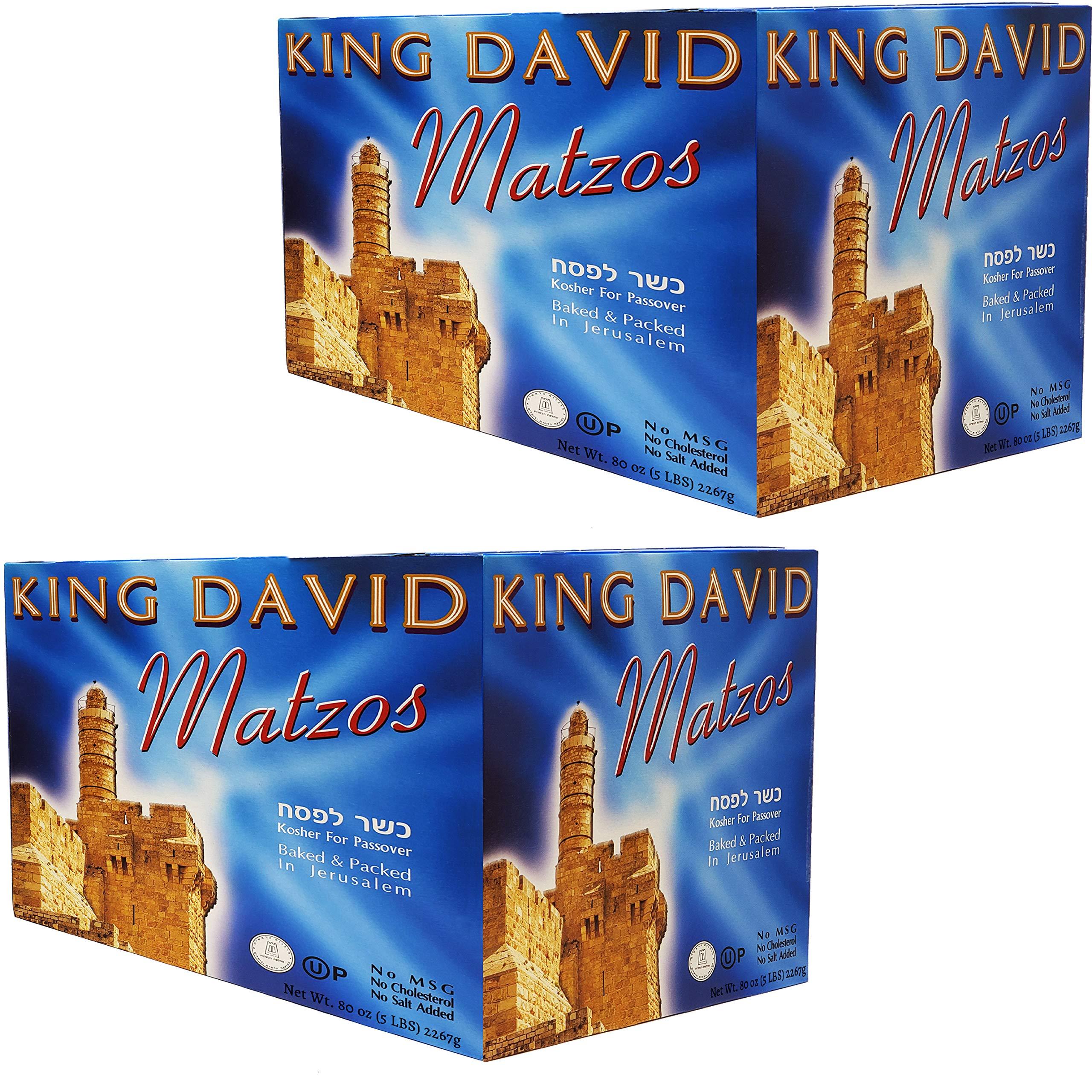 Matzo Passover Matzah Israeli Kosher For Passover King David Matzos Ten Individual One Pound Boxes (Total of 10 LBS) by King David