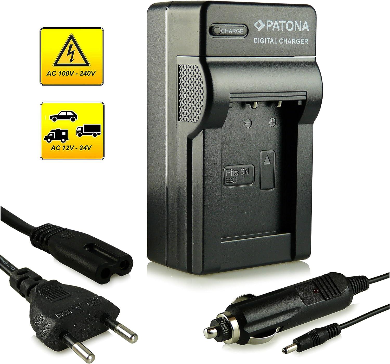 4.2 V//500 mA RX1 Cybershot DSC HX300 PATONA Estrecho Cargador de Bater/ía para Sony NP-BX1 Micro-USB Cable HX50V