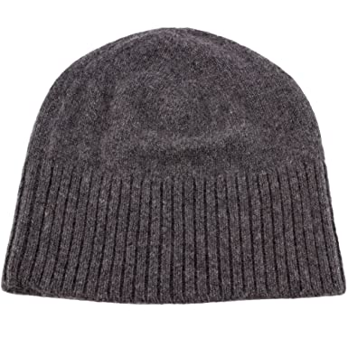 6bcb547690c9a5 Love Cashmere Women's 100% Cashmere Ski Beanie Hat - Dark Gray ...