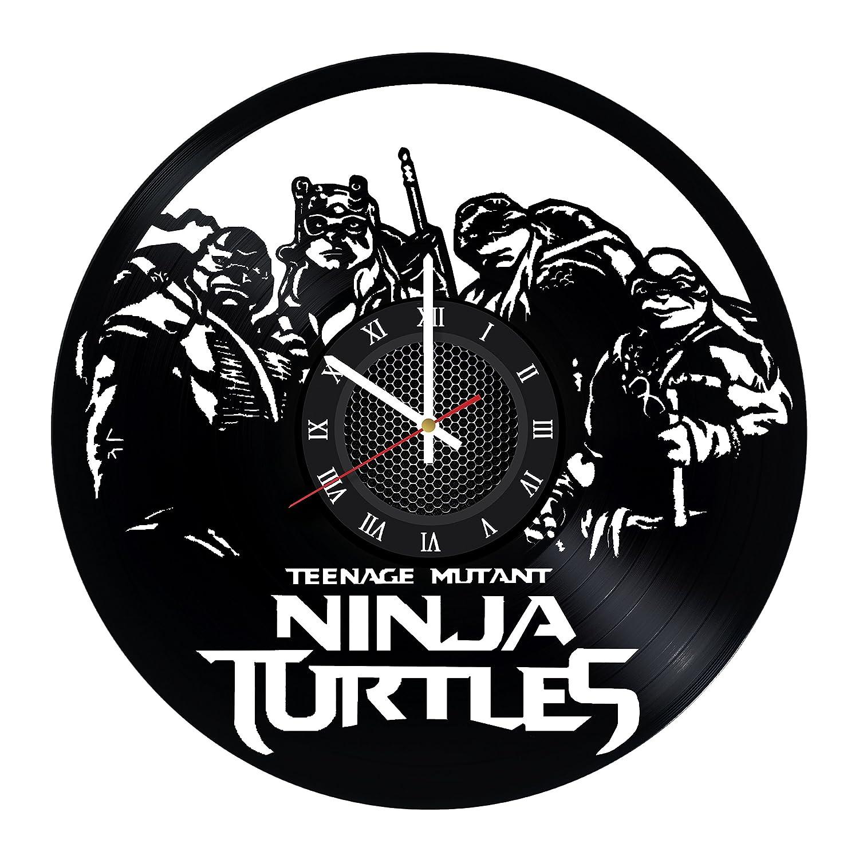 Amazon.com: Ninja Turtles Vinyl Record Wall Clock - Decorate ...