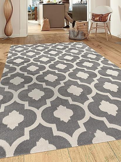 Rugshop Moroccan Trellis Contemporary Indoor Area Rug, 7u002710u0026quot; X 10 U00272u0026quot