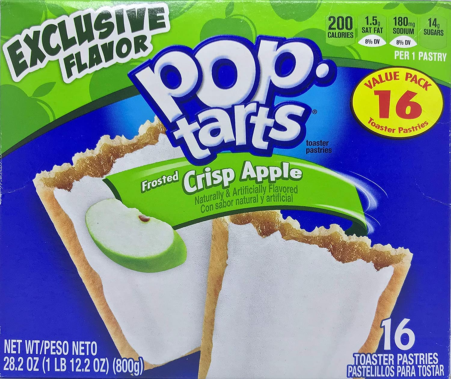 Pop-Tarts Frosted Apple Crisp Exclusive Limited Flavor 16 Count Box 28.2 ounces