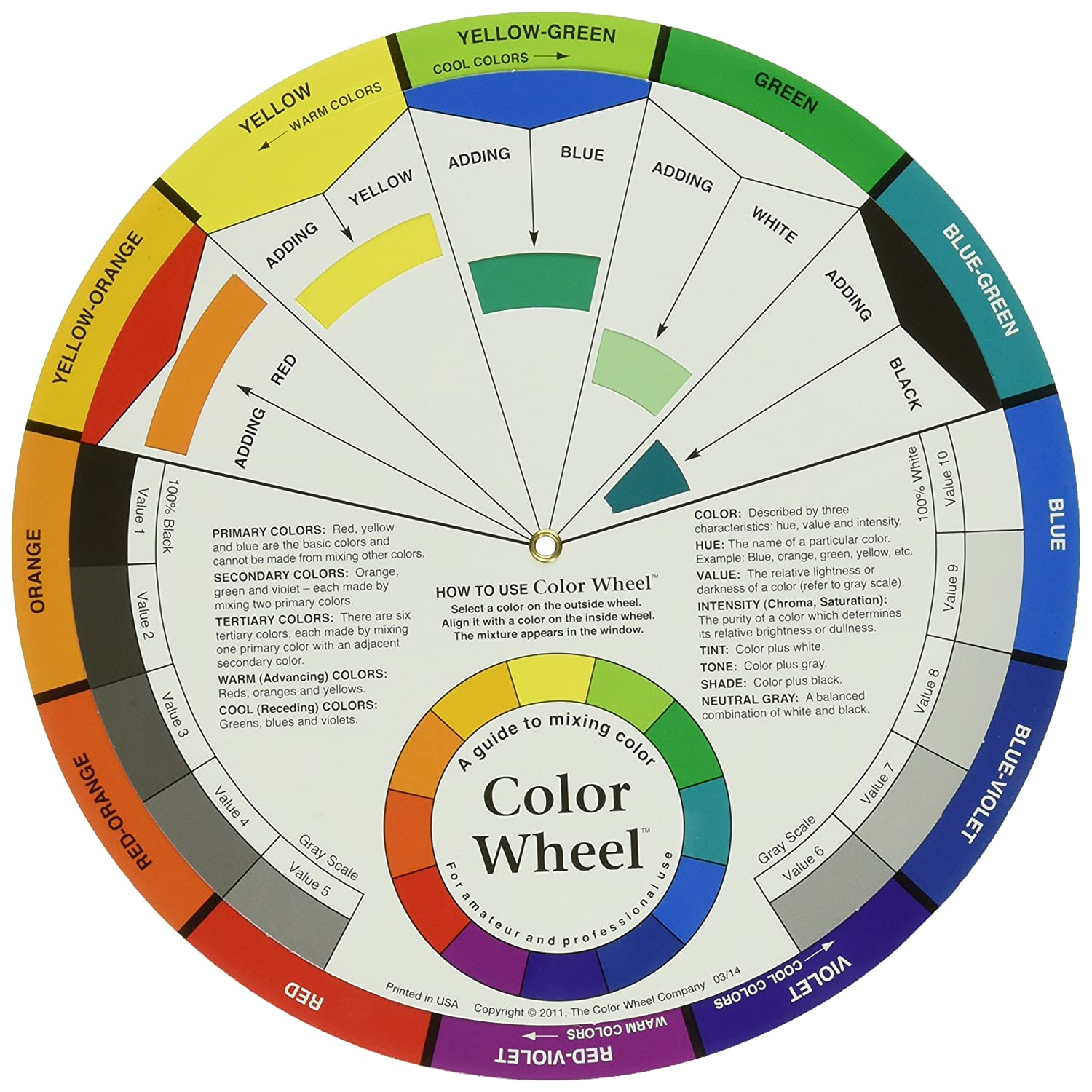 Amazon Color Wheel 914 – Sample Color Wheel Chart