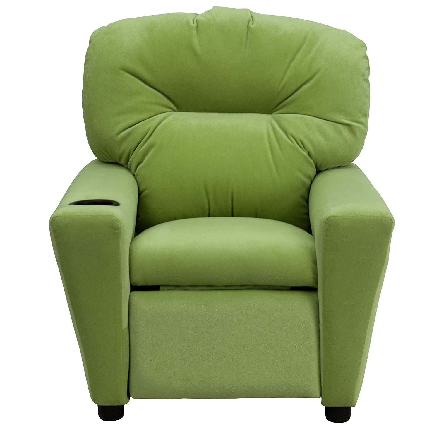 Amazon.com: Flash Furniture Contemporary Avocado Microfiber Kids Recliner  With Cup Holder: Kitchen U0026 Dining