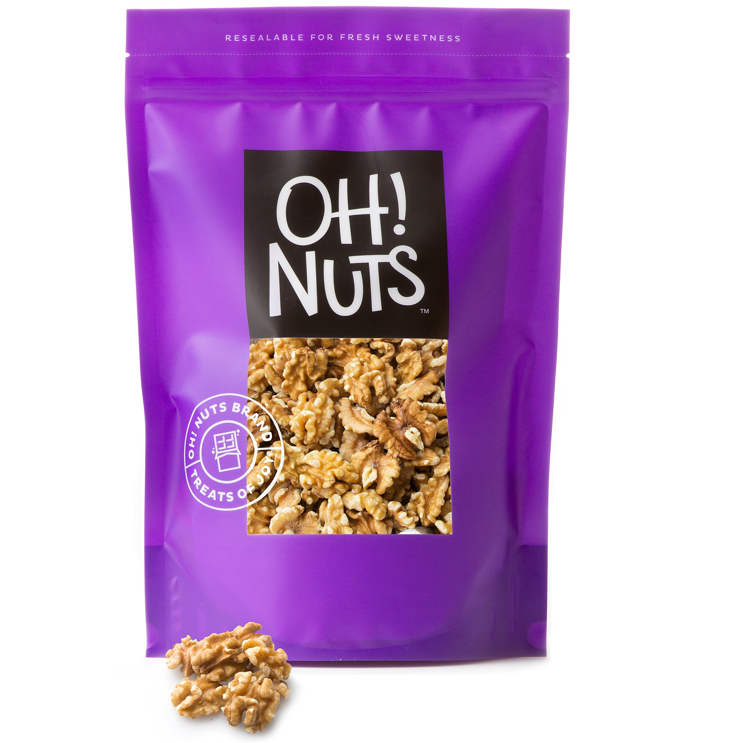 Raw Walnuts Halves and Pieces (5 Pounds) - Oh! Nuts by Oh! Nuts®