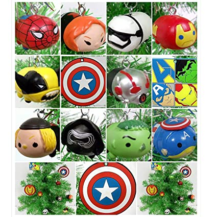 best service 857bb a53da Super Hero Avengers Team Tsum Tsum 13 Piece Christmas Tree Ornaments Set  Featuring Various Super Hero Characters