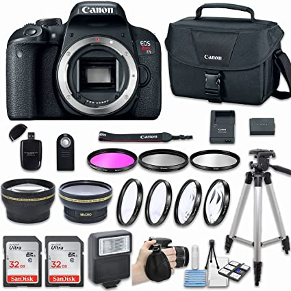 .com : canon eos rebel t7i dslr camera (body only) with bundle ...