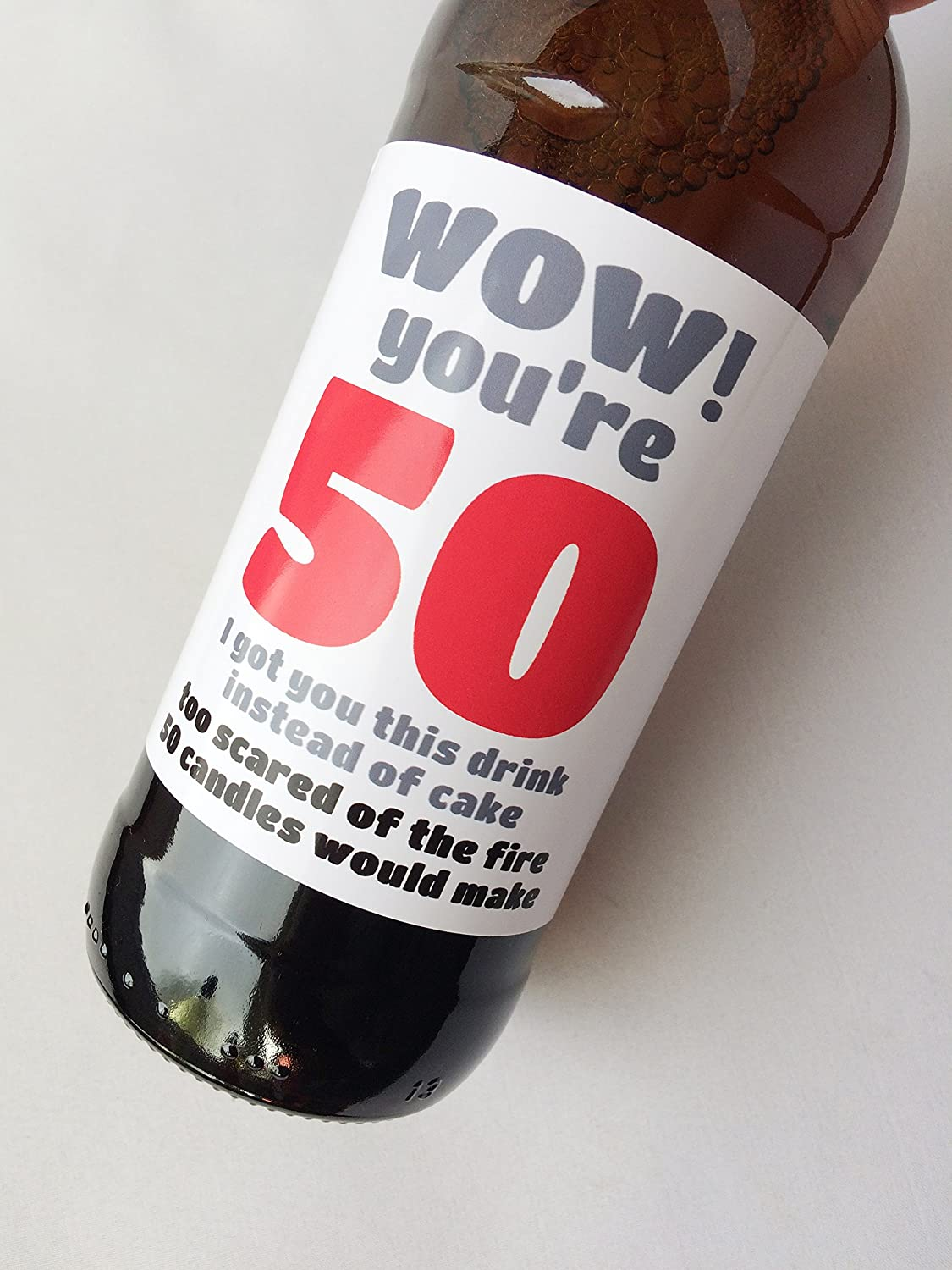 Mini Wine Champagne Beer Wow Youre 50 Humorous Sarcastic Wine Beer Label Funny 50th Birthday Mini Champagne Bottle Label Gift