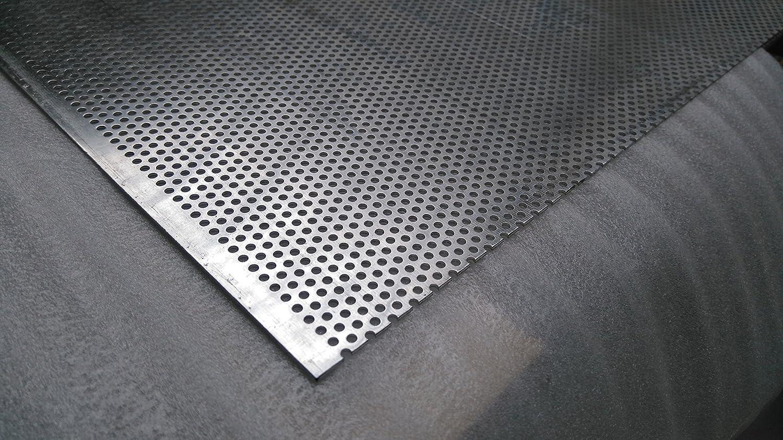 Placa Perforada CRV-3/5 acero inoxidable VA V2 A 1 mm corte ...
