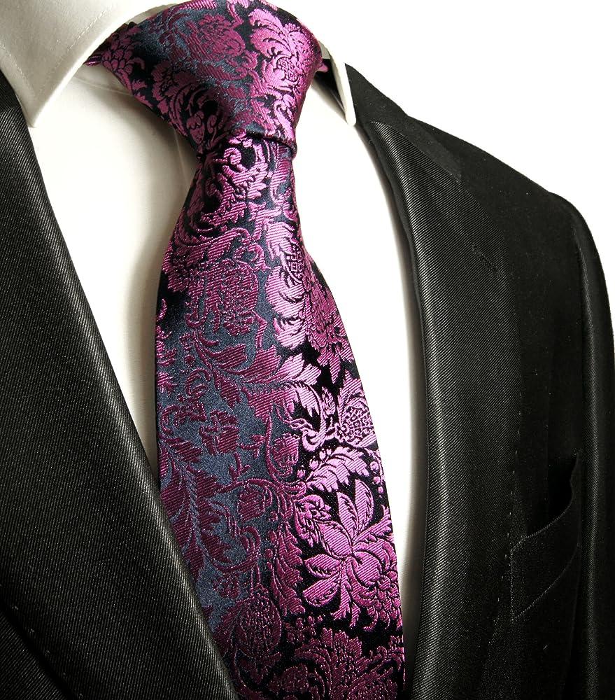 Paul Malone corbata de seda azul oscuro rosa floral: Amazon.es ...
