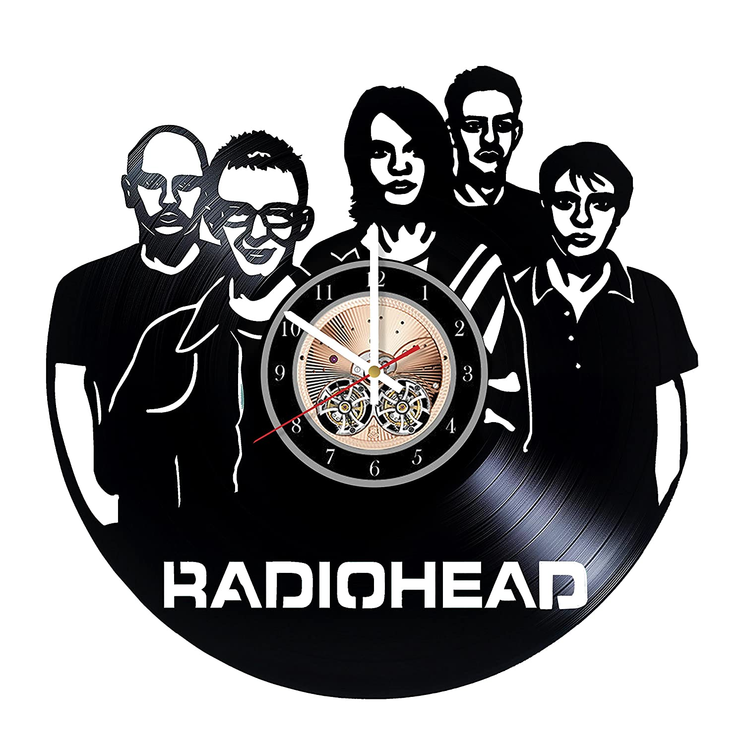 Radiohead English Rock Band HANDMADE Vinyl Record Wall Clock Get unique bedroom or living room wall decor Gift ideas for him and her