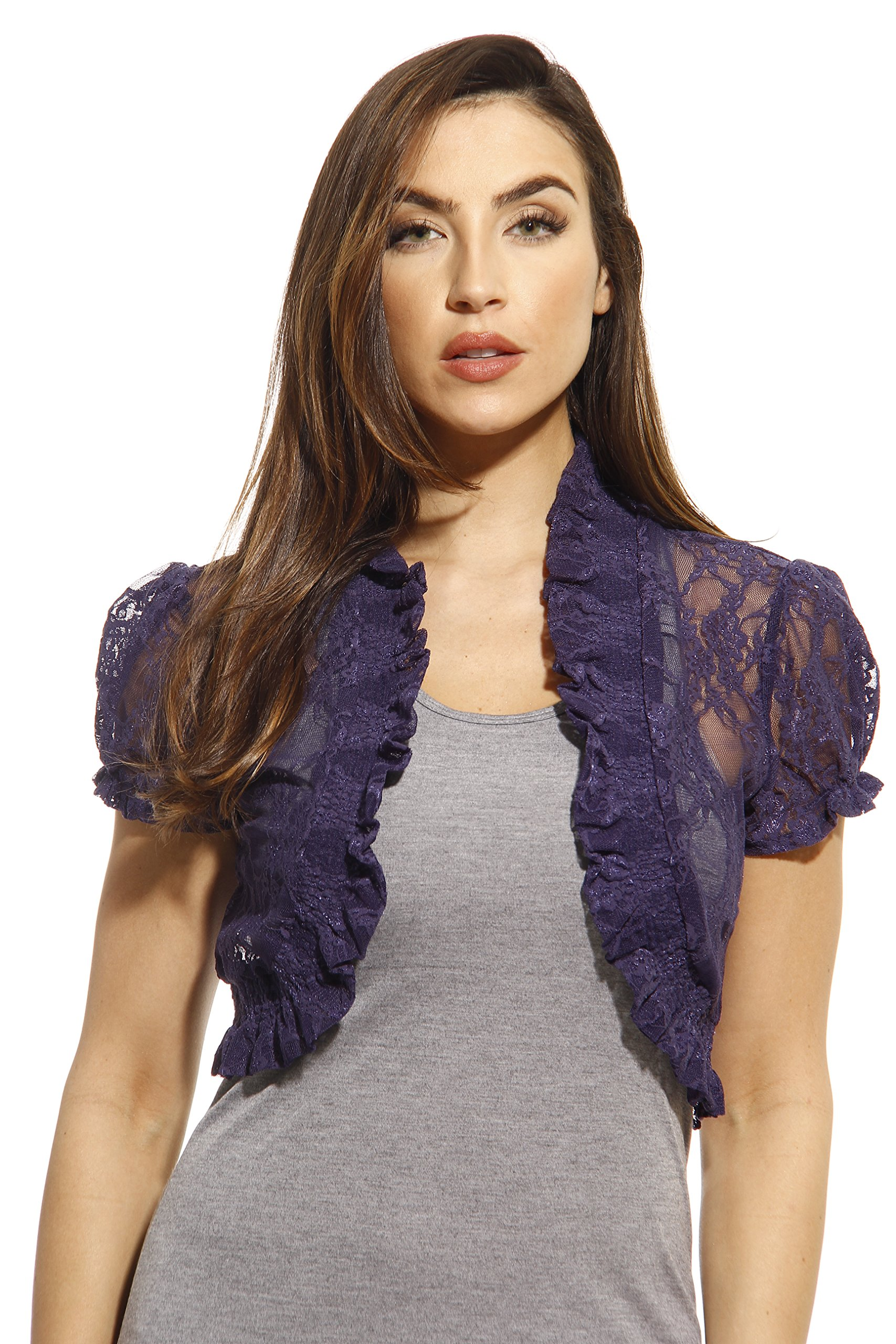 2502-NVY-S Just Love Shrug / Shrugs / Women Cardigan