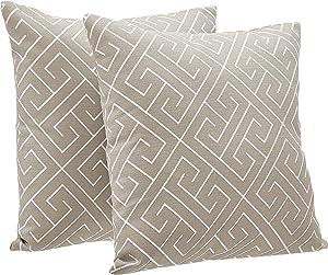 AmazonBasics 2-Pack Linen Style Decorative Throw Pillows - 18