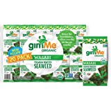 gimMe Organic Roasted Seaweed Sheets - Wasabi - 20 Count - Keto, Vegan, Gluten Free - Great Source of Iodine and Omega 3's -