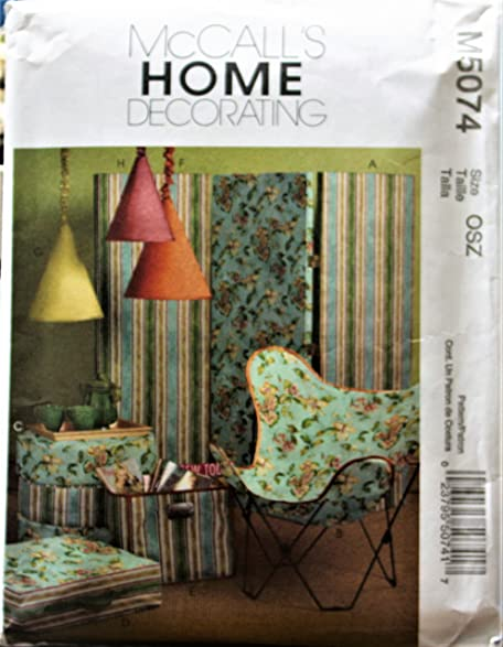 Amazon.com: Mccall\'s M5074 Sewing Pattern Home Decorating ...