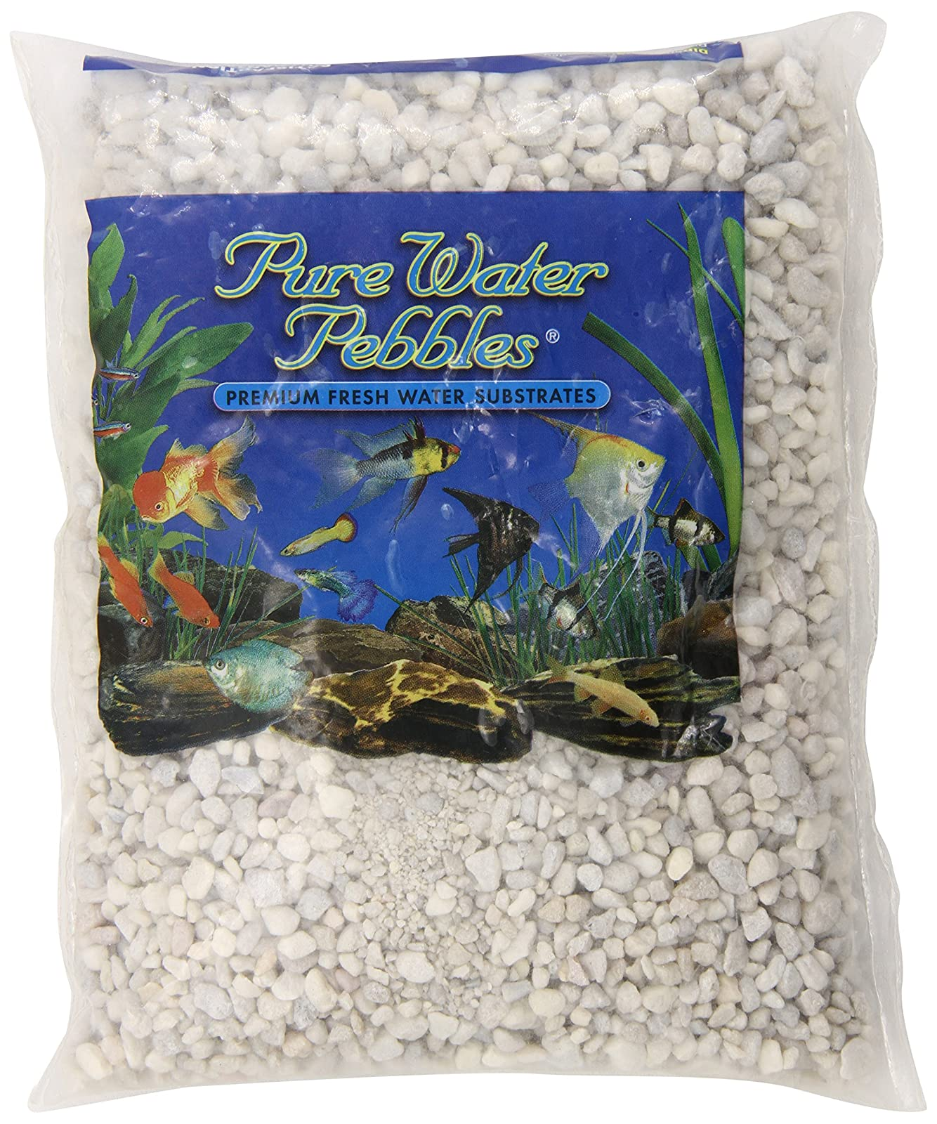 Pure Water Pebbles Aquarium Gravel 2-Pound 70012 white 0.5 In Wide/4ft. - 1