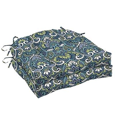 Arden Companies Arden Selections Sapphire Aurora Damask Wicker Seat Cushion 2-Pack : Garden & Outdoor